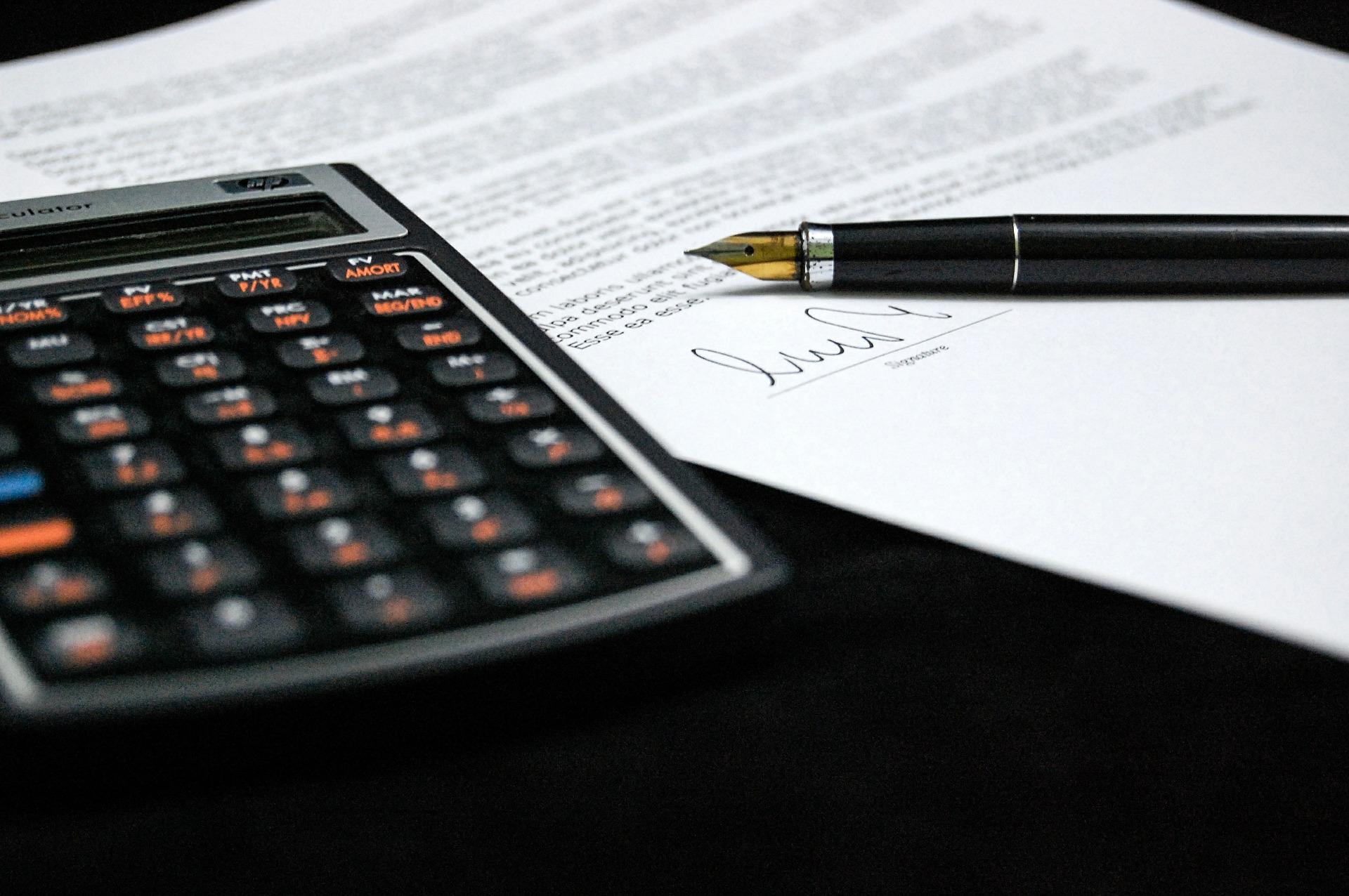 dokument kalkulacka pero smlouva