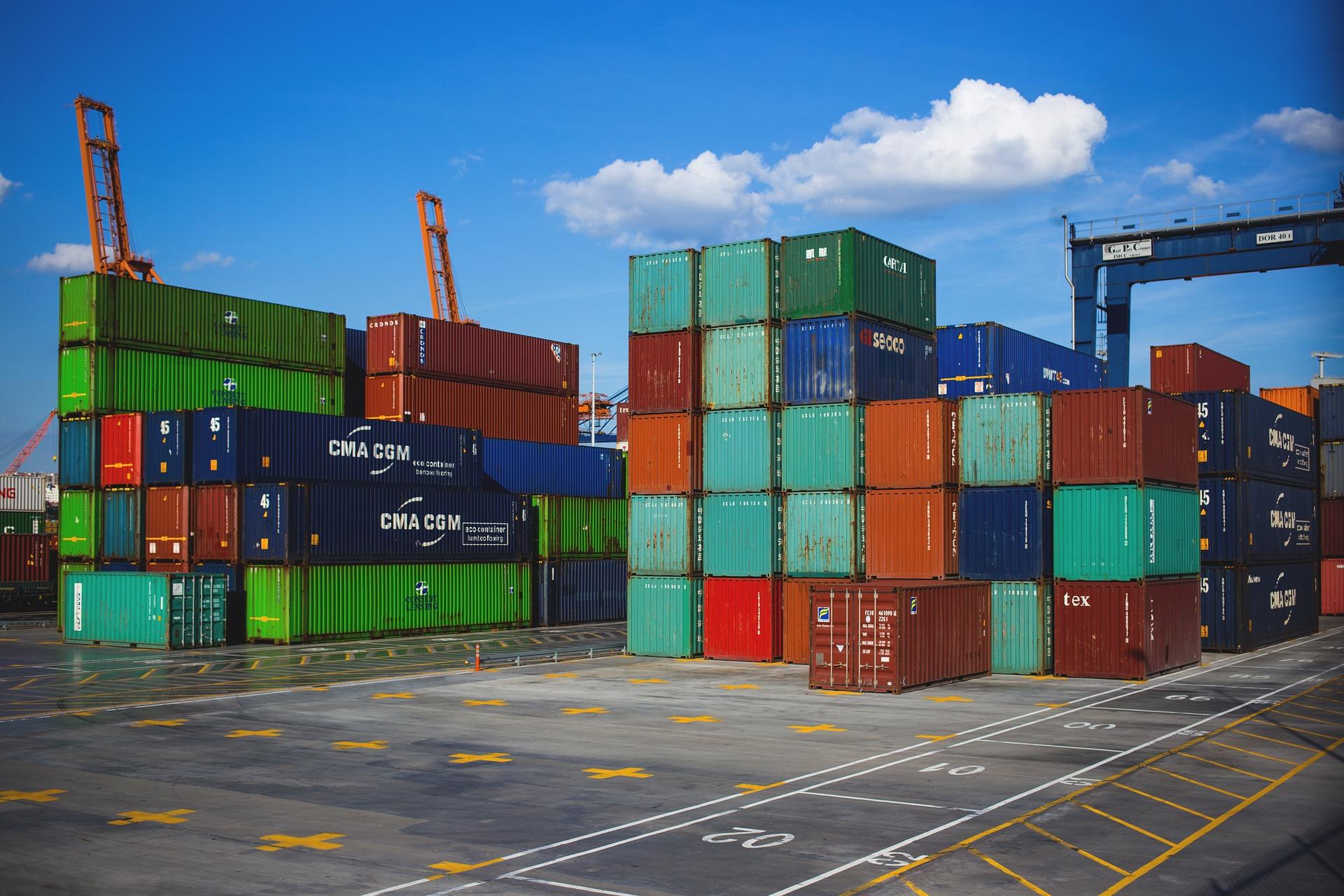 kontejner, export, přístav
